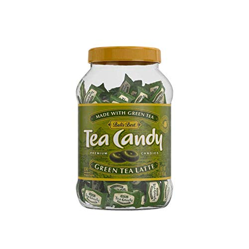 Bali's Best Green Tea Latte Hard Candy Jar, 1 Pound