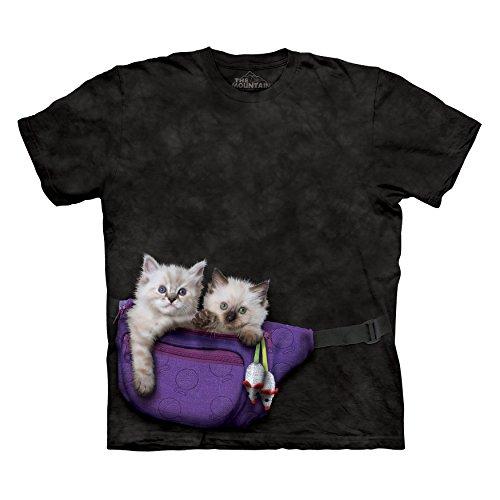 The Mountain Men's Fanny Pack Kittens T-Shirt Black L