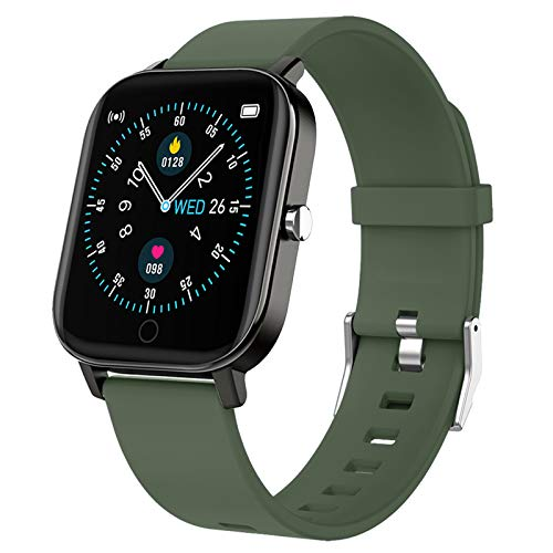 Gushull Fitness Tracker Watch Heart Rate Monitor, Smart Watch with Activity Tracker Watch with Calorie Counter, Pedometer Watch for Women Men and Gift (Green)