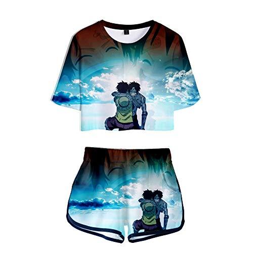 NLJ-lug Una pieza Cosplay traje camisa ropa pantalones cortos deportes conjunto mujeres camiseta camisetas gimnasio traje chándal chándal chándal chándal chica, S