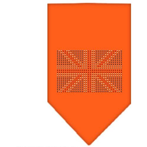 Mirage Britse vlag strass hond Bandana, Large, ORANJE