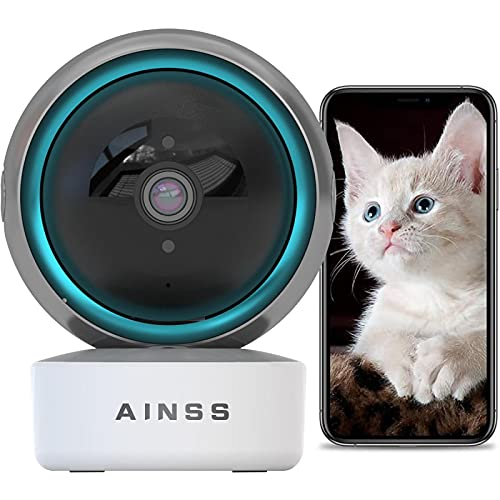 Baby Monitor Cámara de Seguridad WiFi 2.4Ghz 1080P HD Cámara de Vigilancia Interior Compatible con Alexa,Alarma App,Vision Nocturna,Seguimiento Automático Audio Bidireccional,iOS/Android 【Cámara+32G】