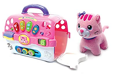 VTech Cosy Kitten Carrier Interactive Toy, Baby Activity Center with Animal Baby Toy, Educational Baby Musical Toy, Sound Toy with Different Music Styles for Babies & Toddlers From 9 months to 3 Years from Vtech Baby