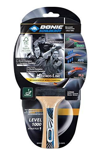Donic-Schildkröt Raqueta de Tenis de Mesa Legends 1000, AVS, PLS y Ergo-Grip, Esponja de 2,3 mm, Madera FSC, Almohadilla Energy-ITTF, 754427