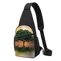 木 ワンショルダーバッグ クロスボディバックパック ボディバッグ 斜めがけ バッグ おしゃれ 男女兼用 軽量 大容量