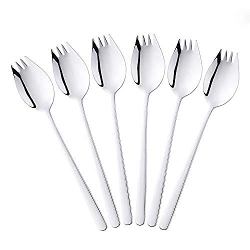 BESTONZON Stainless Steel Serving Spoon Slotted Spoon for Noodles//Spaetzle// Pasta//Chips Silver