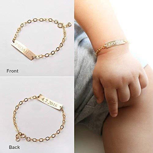 14k gold vermeil sterling silver Engraved nameplate bracelet personalized bracelet