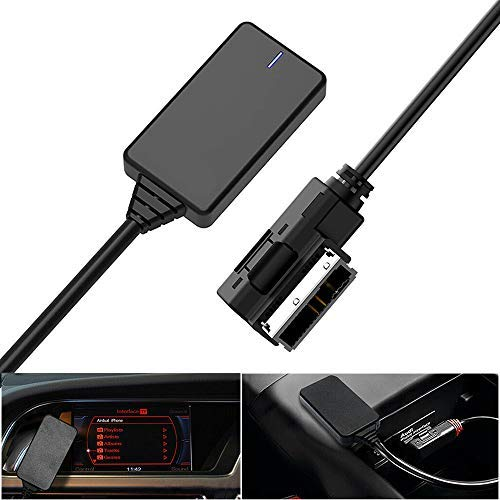 Weletric AMI MMI MDI Interface Bluetooth 5.0 Audio Music Input Adapter AUX Receiver Cable Adapter for Audi Q5 A7 S5 Q7 A6 A8 (for MMI 3G Only) …