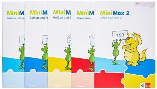 MiniMax 2: Schülerpaket (5 Hefte: Zahlen und Rechnen A, Zahlen und Rechnen B, Größen und Sachrechnen, Geometrie, Teste-dich-selbst, Beilage) - Verbrauchsmaterial Klasse 2 (MiniMax. Ausgabe ab 2019)