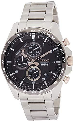 Seiko Chronograph Herren-Uhr Edelstahl mit Metallband SSB323P1