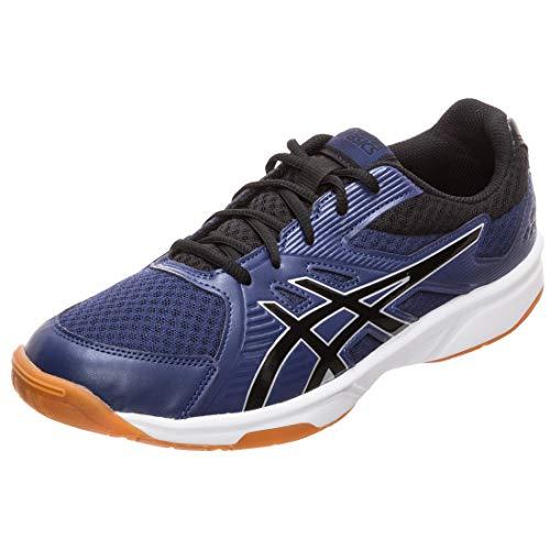 ASICS Men's Upcourt 3 Indigo Blue/Black Badminton Shoes-10 UK/India (45 EU) (11 US) (1071A019.402)