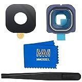 MMOBIEL Reemplazo de Lente para cámara Trasera (Posterior) con Cubierta Compatible con Samsung Galaxy S6 G920 (Azul) Incl. Pinzas y Limpiador