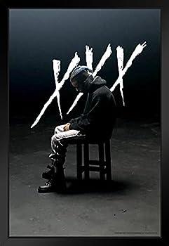 Xxxtentacion Hoodie XXX Merch Bad Vibes Forever Skins Trap Music Aesthetic Black Wood Framed Art Poster 14x20