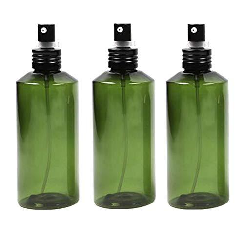 3pcs 200 ml 6.8oz vide rechargeable en plastique vert émulsion presse pompe bouteille avec tête de pompe noire lotion portable crème fondation pot support de flacon cosmétique conteneur de stockage