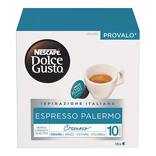 Nescafé Dolce Gusto Espresso Palermo Caffè Espresso 6 Confezioni da 16 Capsule (96 Capsule)
