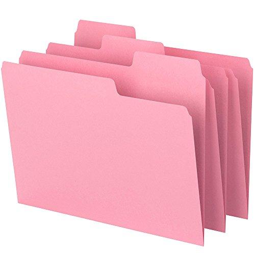 Smead SuperTab File Folder, Oversized 1/3-Cut Tab, Letter Size, Pink, 6 Per Pack (11820)