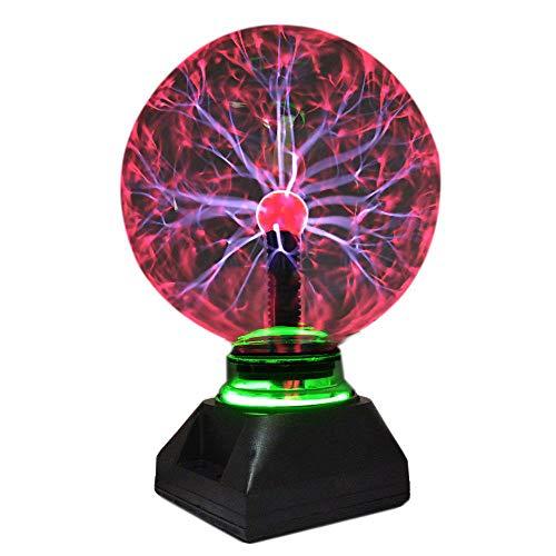 Bola de plasma mágica de cristal luz de cristal luz de la bola del plasma de la lámpara para la física de enseñanza experimento regalos de Navidad los niños Inicio iluminación de la decoración