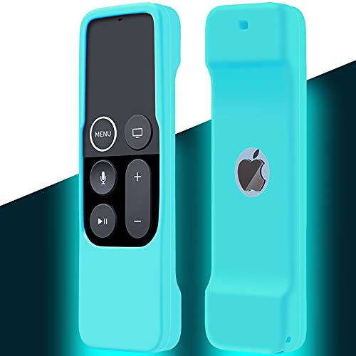 Case Compatible with Apple TV 4K/ 4th Gen Remote Light Weight Anti-Slip Shock Proof Silicone Cover for Controller for Apple TV Siri Remote Glow in The Dark