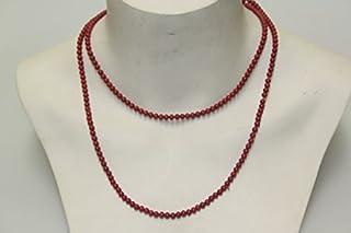 Unbekannt Collier en Perles de Verre et Perles en Forme de Corail Antique Antique