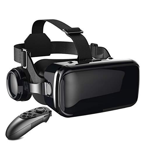 DUHUI VR Gafas Auricular Realidad Virtual Auriculares 110 ° Fov para