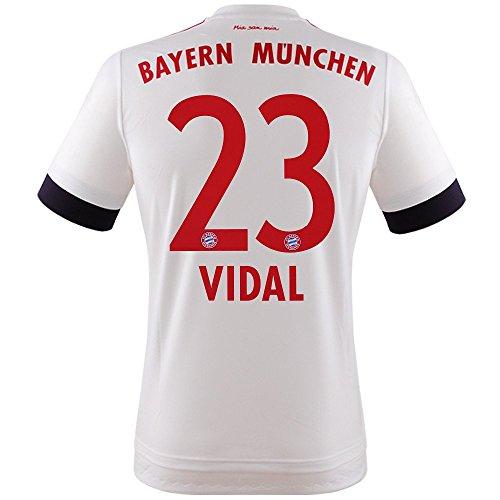 FC BAYERN MÜNCHEN AWAY TRIKOT 2015/16 - VIDAL, Größe S