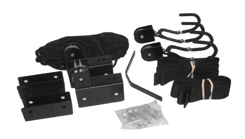 attwood 11953-4 All-In-One Hoist System for Kayaks, Canoes and Bikes, Black Finish