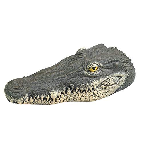 Fewear Floating Alligator Decoy, Alligator Head Decoy & Pond Float with Reflective Eyes for Geese & Blue Heron Control,Floating Crocodile Head Water Decoy Garden Pond Art Decor for Goose Control (A)