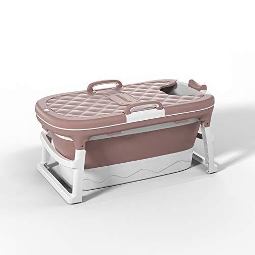SYN-GUGAI Bañera Plegable Plegable para bebés, bañera Plegable Happy Life, bañera portátil, bañera de plástico, bañera de hidromasaje, bañera de Masaje,Pink