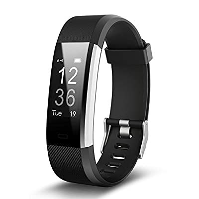 "Smart Bracelet, Bluetooth 4.0 IP67 Waterproof Heart Rate Monitor with 0.96"" Panel, Pedometer, GPS & Auto Sleep Tracking, Fitness Tracker for iPhone 11 Pro/X/8/7/6, iPad, Samsung Galaxy S9/S8/S7"