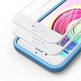 Bewahly Cristal Templado para iPhone 6 / 6s [2 Piezas], 3D Completa Cobertura Protector Pantalla con Marco de Instalación Fácil, 9H Dureza Alta Definicion Vidrio Templado para iPhone 6 / 6s (Blanco)