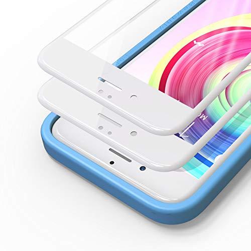 Bewahly Vetro Temperato iPhone 6S   6 [2 Pezzi], 3D Copertura Completa 9H Durezza Pellicola Protettiva in Vetro Temperato con Kit di Installazione per iPhone 6S   iPhone 6 (4,7 Pollici) Bianco