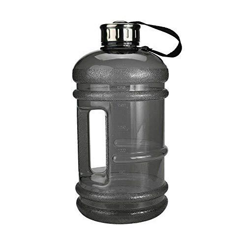 Botella de agua de 2,2 litros para deportes, gimnasio, dieta, culturismo, senderismo y oficina