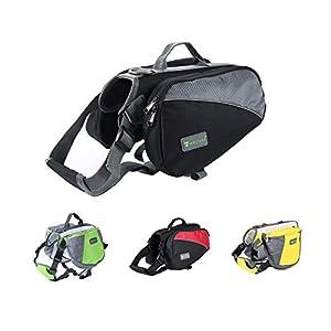 Wellver Adjustable Dog Saddle Backpack, Hound Hiking Saddle, Travel Saddle Bag for Small, Medium, Large and Extra Large Dogs