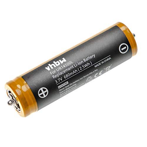 vhbw Akku kompatibel mit Braun Series 5 530, 550, 550s-3, 550s-4, 560, 560s-3, 560s-4, 570cc, 570cc-3 Rasierer Haarschneider (680mAh, 3,7V, Li-Ion)