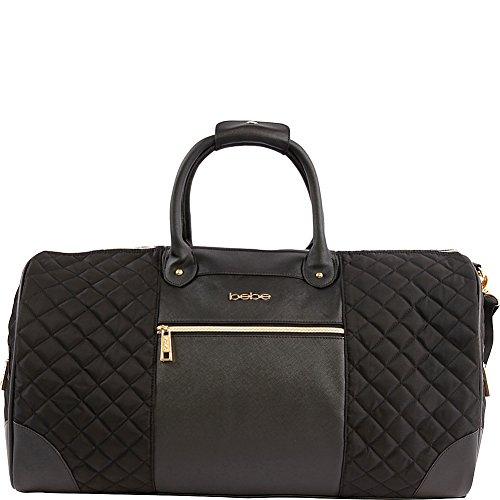 BEBE Women's Mandy Weekend Travel Bag, Black, One Size