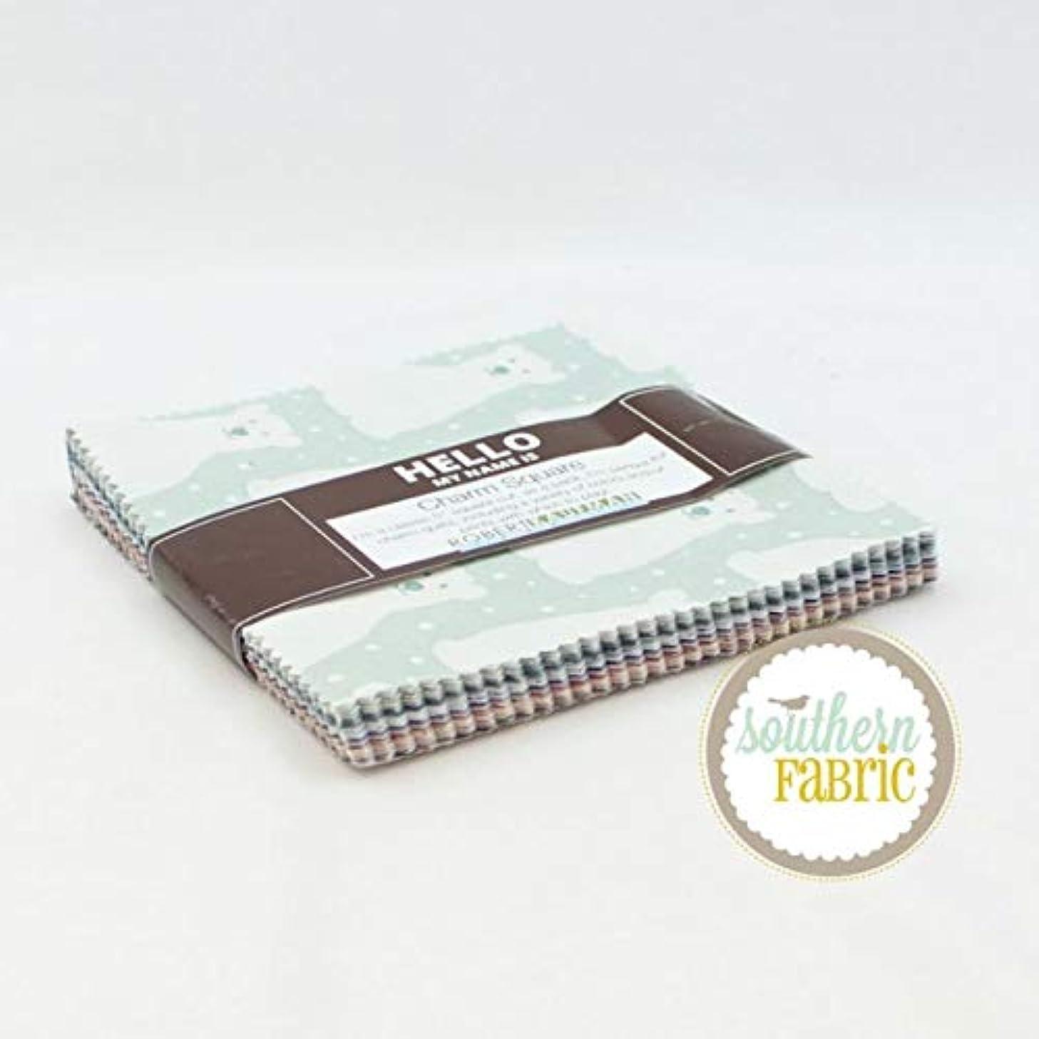 Robert Kaufman Arctic Charm Pack (42 pcs) by Elizabeth Hartman 5 x 5 inches (12.7cm x 12.7cm) Fabric Squares DIY Quilt Fabric