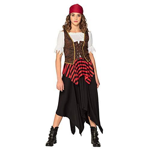 Boland 84557 – Disfraz de pirata Tornado, vestido, corsé, pañuelo para la cabeza, pirata libre, disfraz, carnaval, fiesta temática