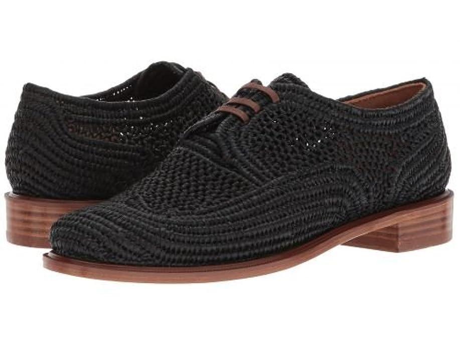 プロフェッショナル作物好意Clergerie(クレジュリー) レディース 女性用 シューズ 靴 オックスフォード 紳士靴 通勤靴 Japaille - Black Raffia [並行輸入品]