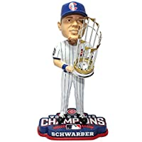 """MLB Chicago Cubs Kyle Schwarber 2016 World Series Champions Bobblehead, White, 8"""""""