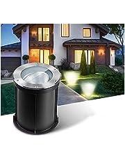 GAXQFEI Luces de Tierra de Ángulo de Luz Ajustable 85-265V Fotlight de Ca Lámpara de Pie Ip67 Amplia Lighting Jardín, Patio, Césped Iluminación,Luz Blanca,10W