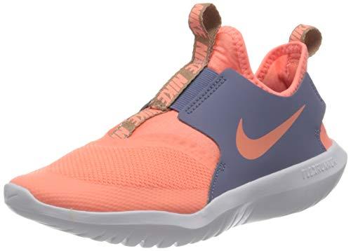 Nike Unisex-Child Flex Runner (PS) Running Shoe, Atomic Pink/Atomic Pink-World Indigo-Metallic Red Bronze, 27.5 EU