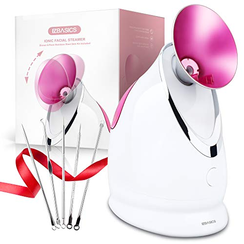 EZBASICS Facial Steamer Nano Ionic Face Steamer for Home Facial, Warm Mist Humidifier Atomizer...