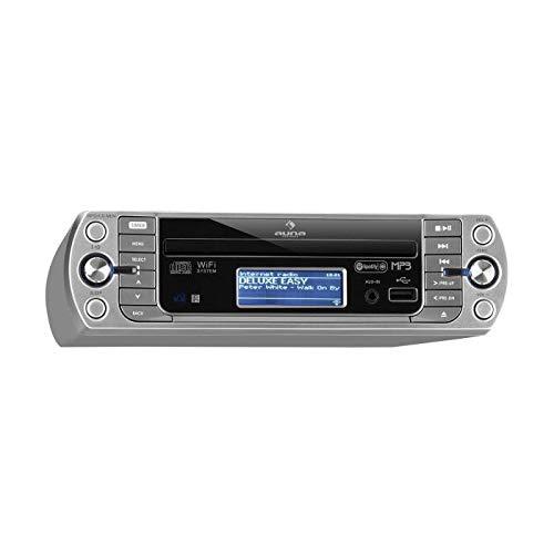 Le KR-500 CD - Radio de Cuisine WiFi Argent de AUNA