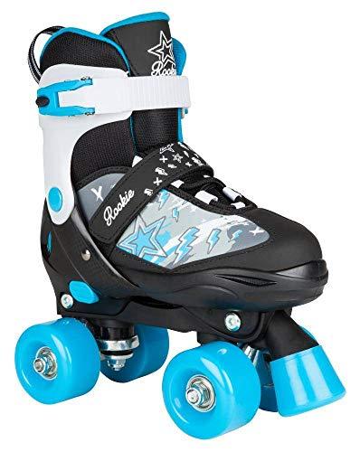 Rookie Adjustable Skate Ace Junior SML 8-11 Inlineskates Unisex Kinder Mehrfarbig (Black/Blue), jnr