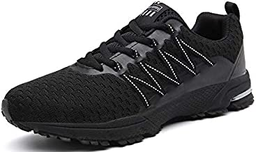 UBFEN Womens Running Shoes Fashion Sneakers Sports Casual Footwear Walking Fitness Jogging Athletic Indoor Outdoor 10.5 Women / 8.5 Men US B Black