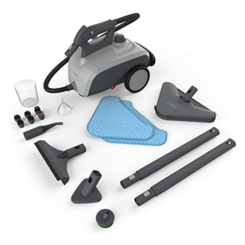 Pure Enrichment PureClean Steam Cleaner - 1500-Watt Multi-Purpose Household System for Deep Cleaning Floors, Windows, BBQ Grills, Grout, Cars and More, Includes 18 Accessories