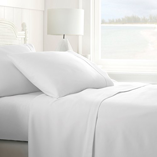 ienjoy Home IEH-4PC-QUEEN-WHITE 4 Piece Ultra Soft Sheet Set, Queen, White
