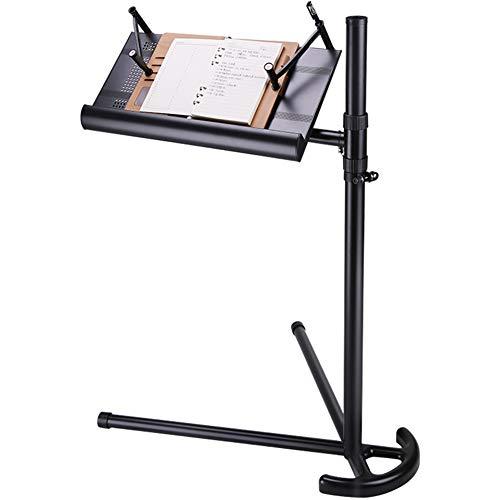 PENGFEI Supports Ordinateurs Portable Tables Élévatrices Paresseuses Support De Lecture avec Aérations Réglable en Hauteur Rotation À 360 °, 3 Couleurs (Couleur : Noir)