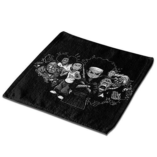 The Boondocks Toallas faciales de Tela clásicas, Mini Cuadrados, Toalla de Mano para Lavar para niños, niñas, niños, Fiestas de té, 13 x 13 Pulgadas