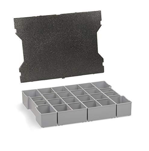 Sortimo Insetbox K3 | K3 Einsätze mit Deckenpolster | Für die L-BOXX 102 G4 | Sortierboxen für Kleinteile | Einsatzboxen für Sortimentskästen